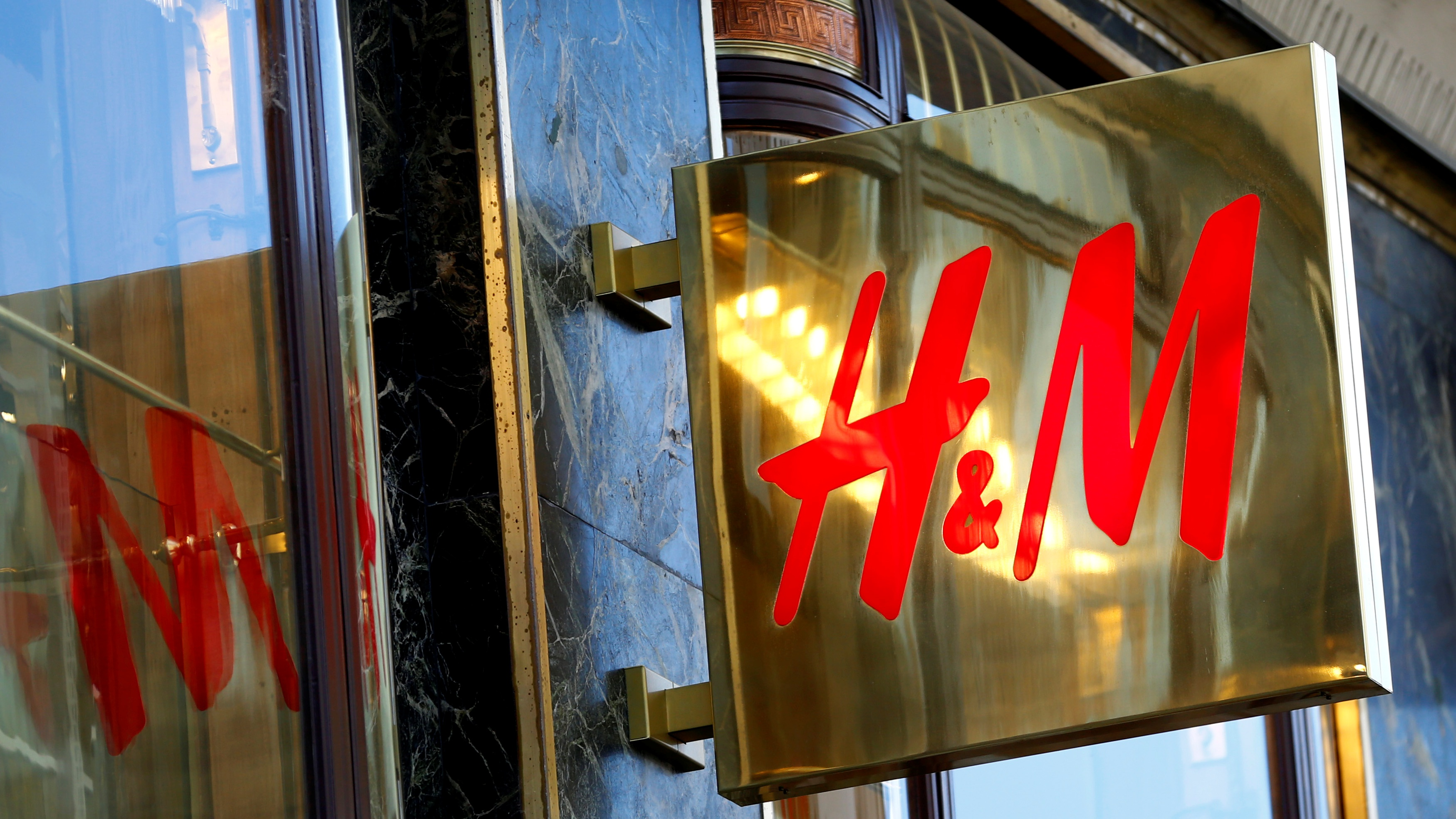 The logo of H&M is seen outside a store in Vienna, Austria, June 21, 2016. REUTERS/Leonhard Foeger