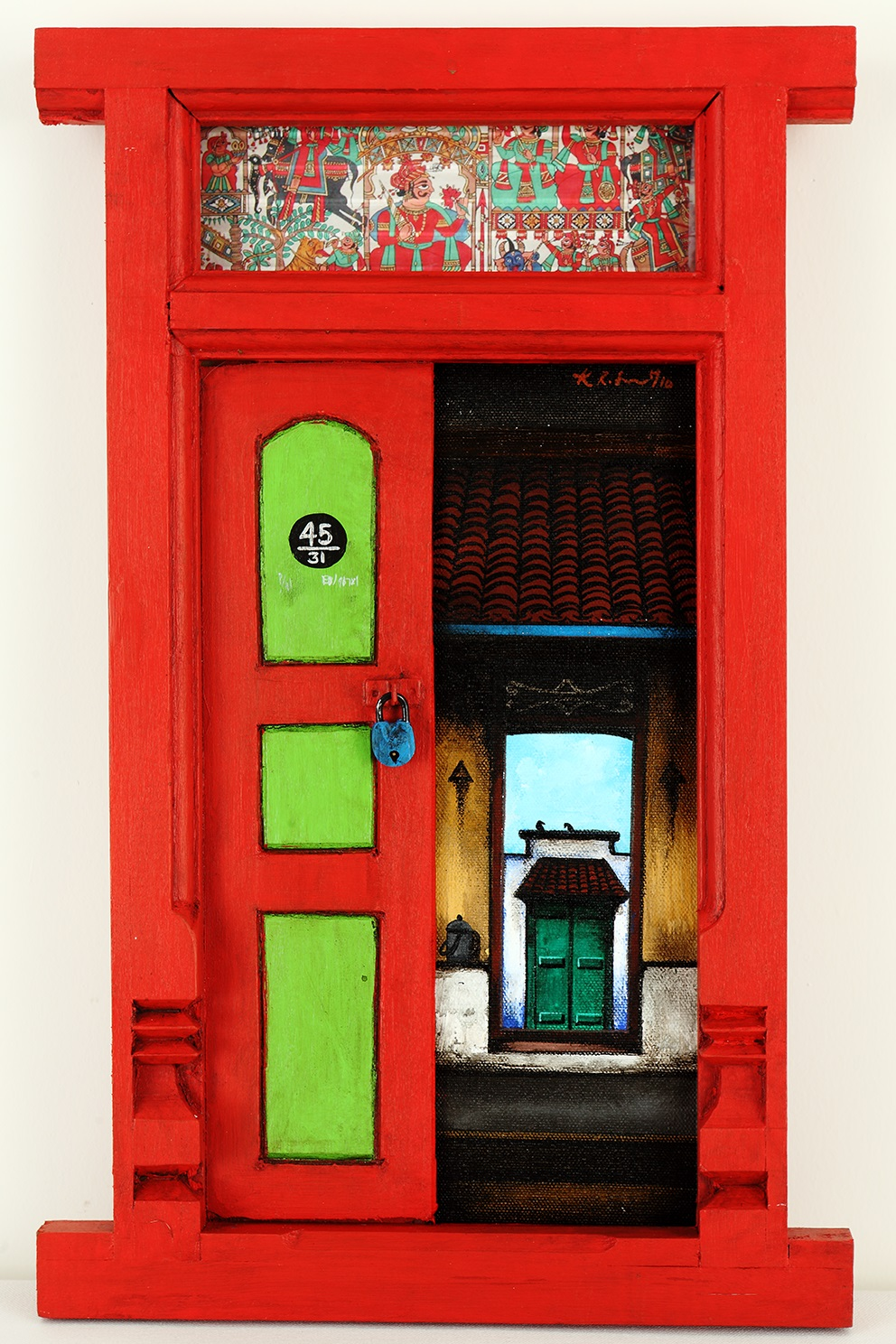 Santhanakrishnan-india-door-paintings