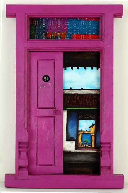 Santhanakrishnan-door-painting-India