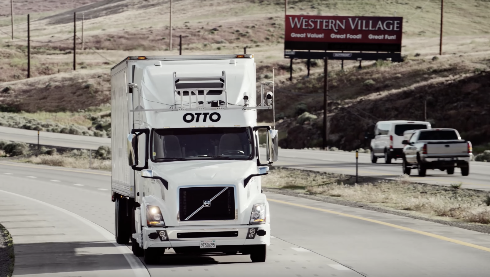 An Otto truck on the road.