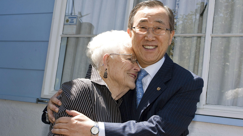 Secretary General Ban Ki-Moon met Libba Ms Patterson