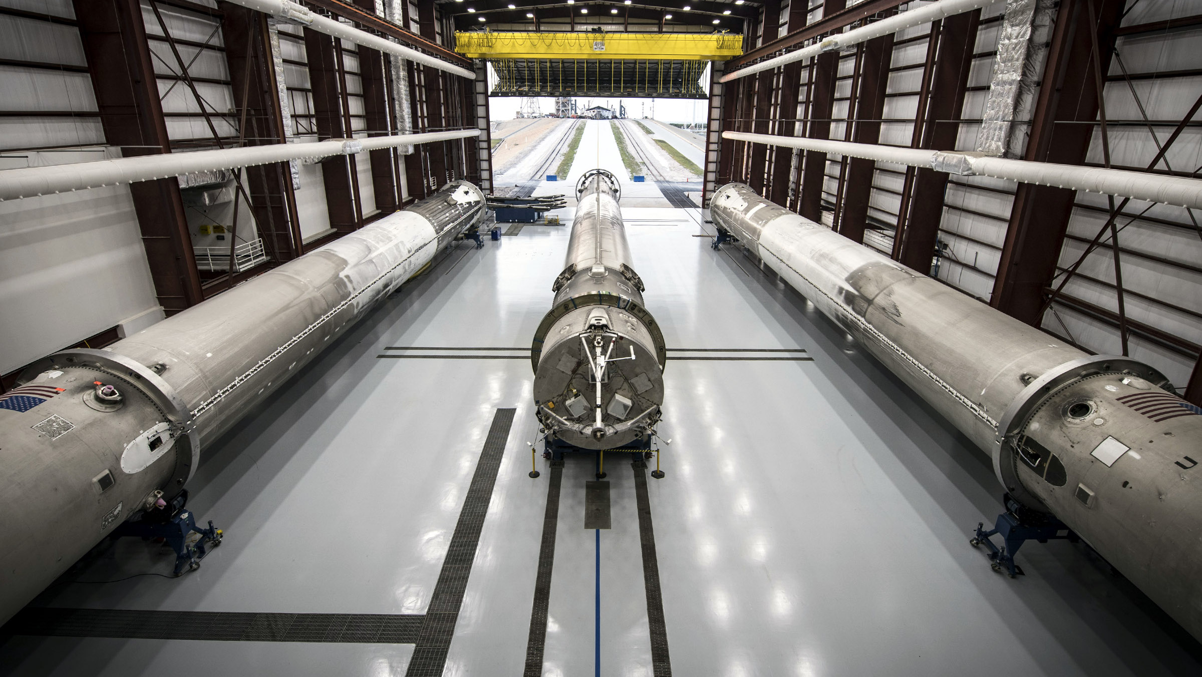 Three lightly-used SpaceX Falcon 9 rockets await a second launch.
