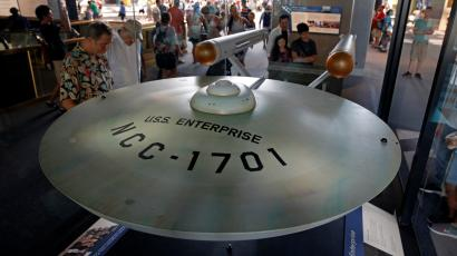 The original model of the USS Enterprise at the Smithsonian Museum in Washington.
