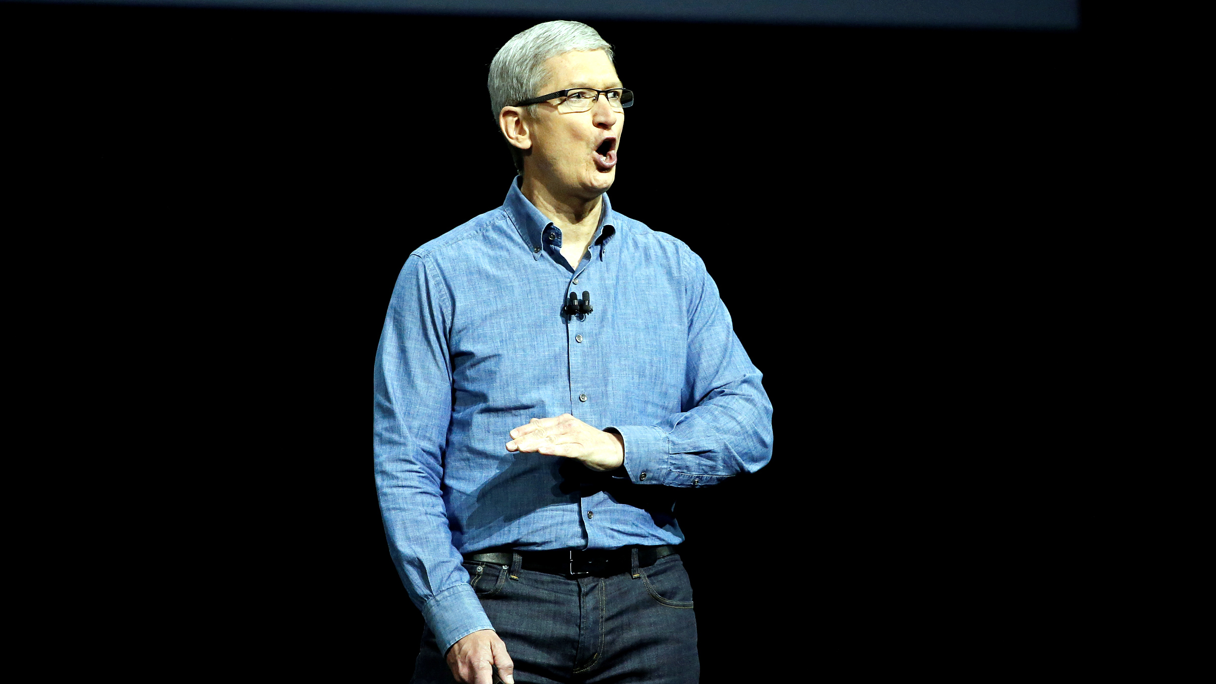 Apple Inc. CEO Tim Cook speaks on stage at the company's World Wide Developers Conference in San Francisco, California, U.S., June 13, 2016.