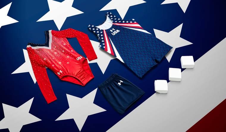 One of Under Armour's US gymnastics uniforms
