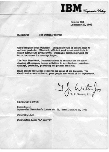 IBM Thomas J. Watson Memo 123
