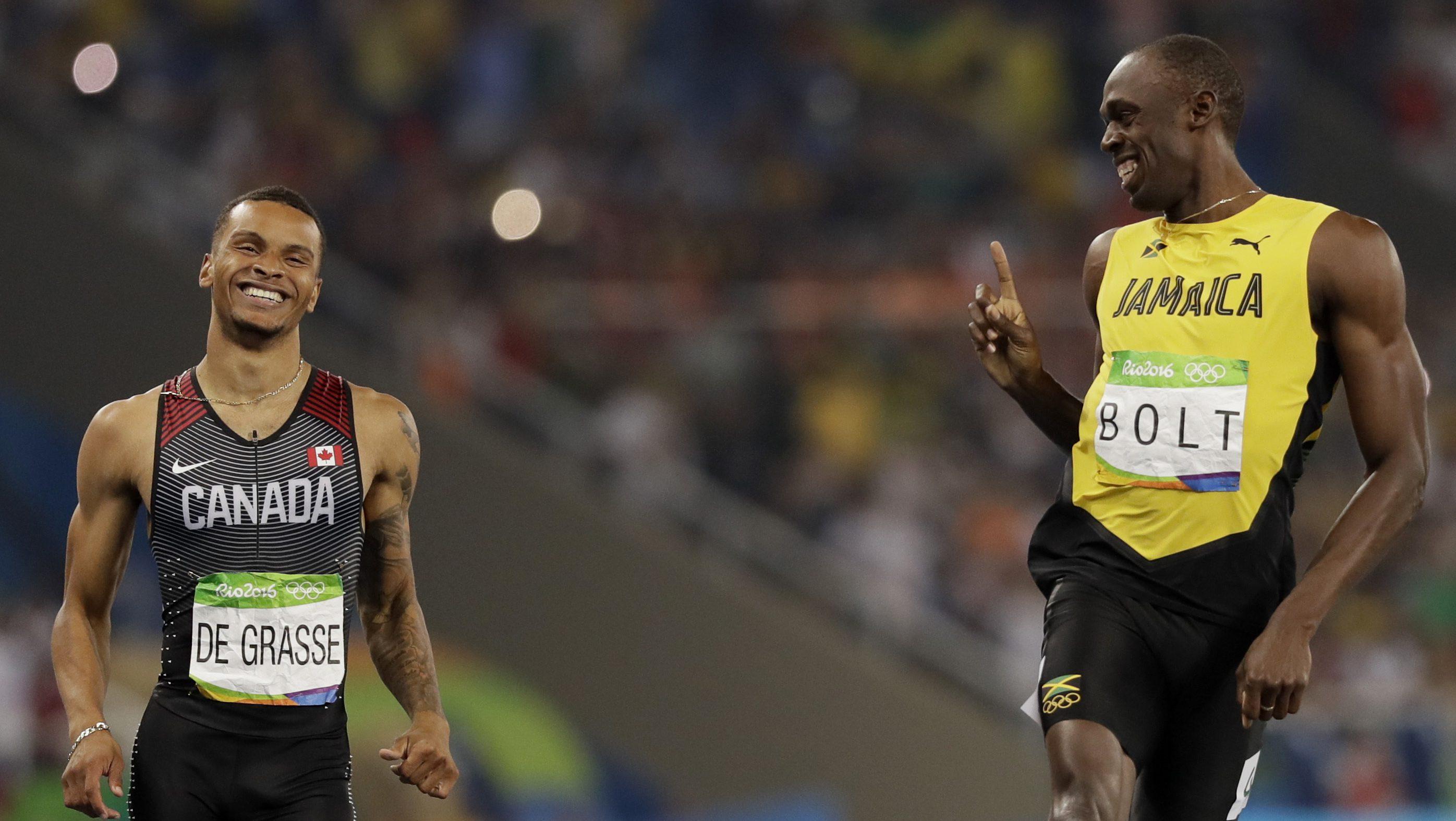 Usain Bolt, Andre De Grasse
