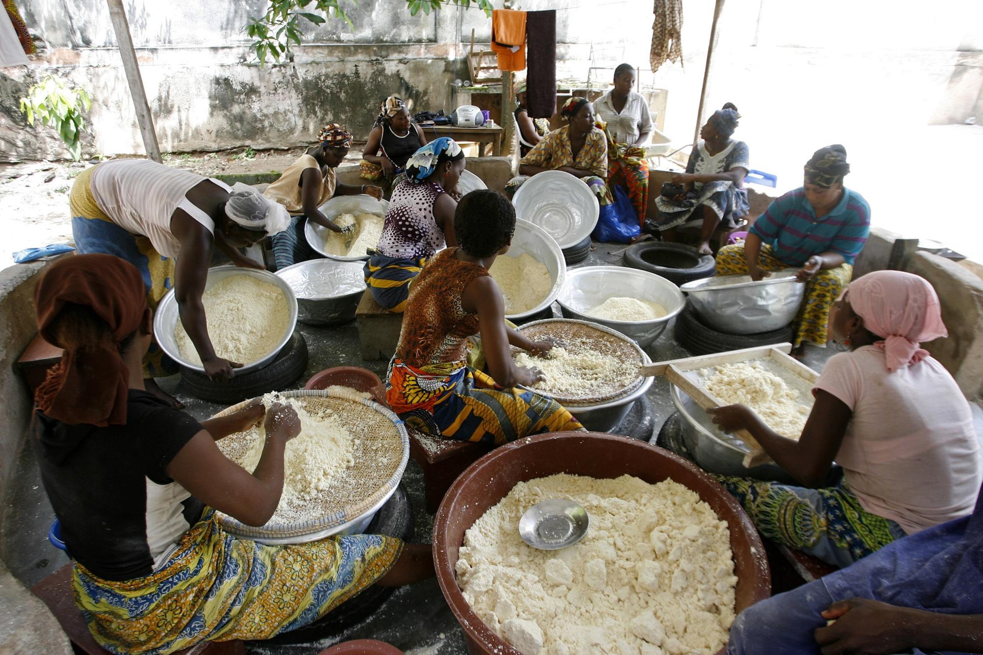 Attieke is Ivory Coast Côte d'Ivoire's national dish