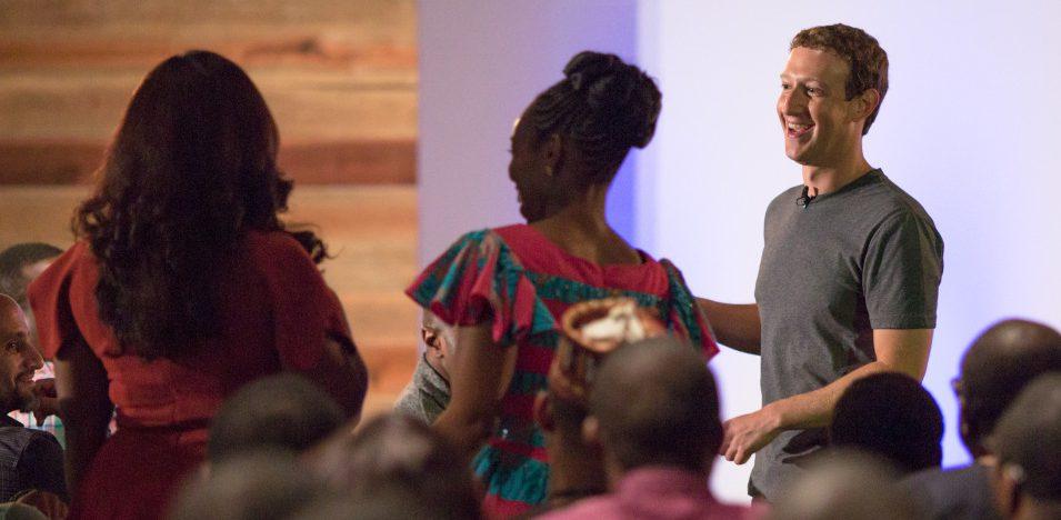 Mark Zuckerberg holds a QA in Lagos