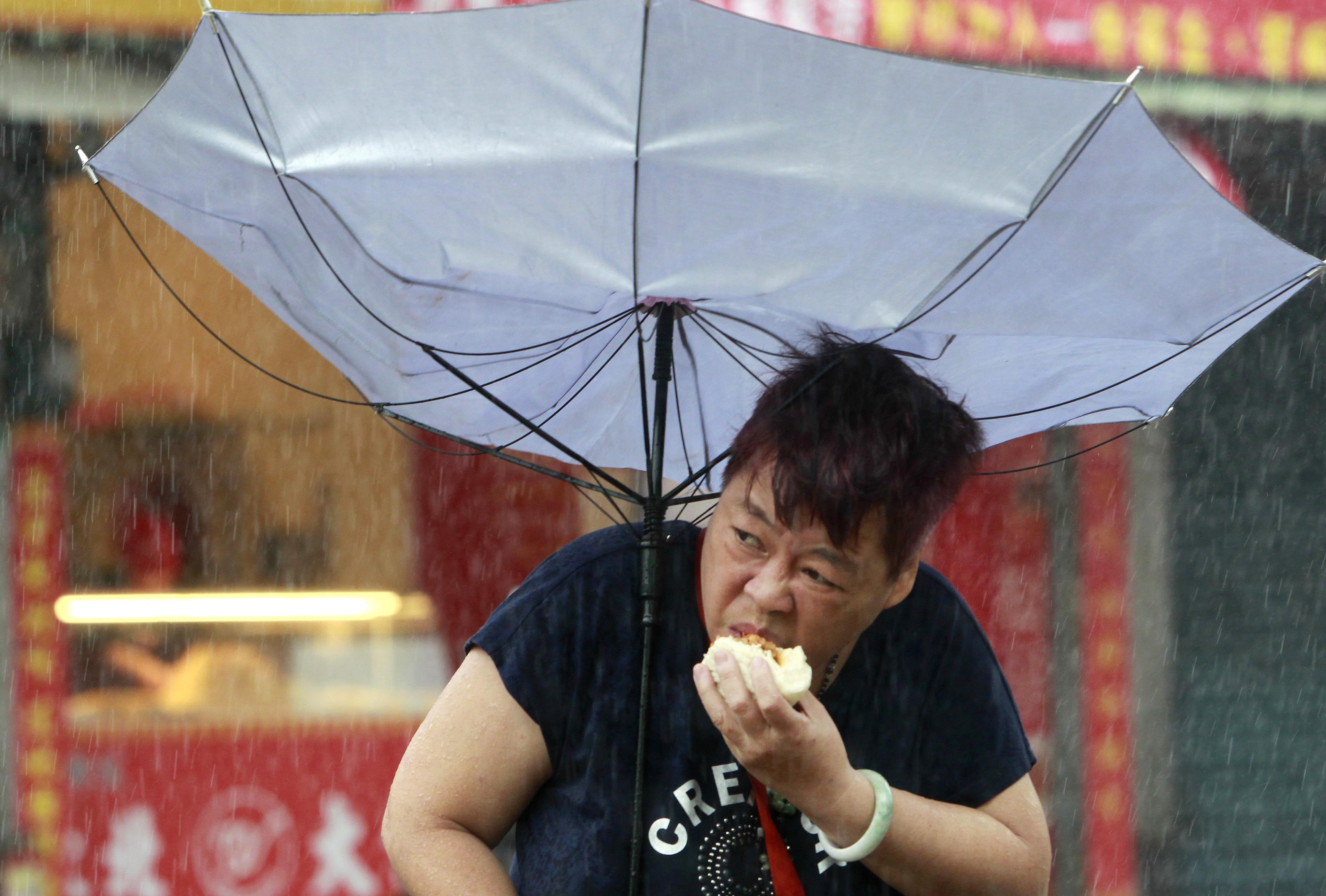Typhoon Megi strikes Taiwan.