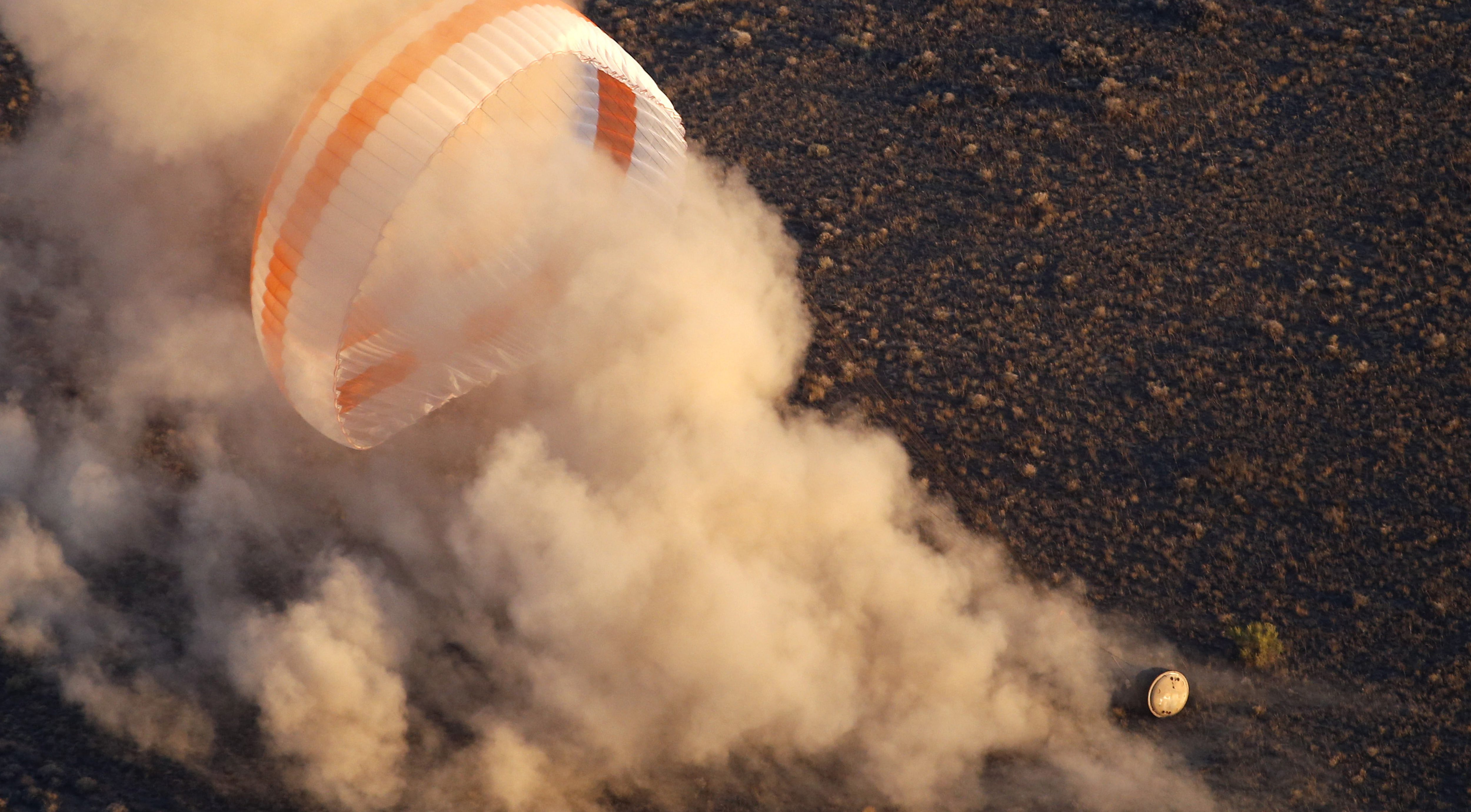 Astronauts just returned to Earth from the International Space Station, landing in Kazakhstan.