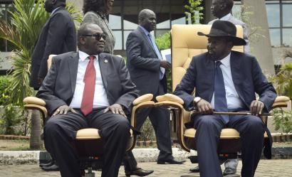 Riek Machar and Salva Kiir