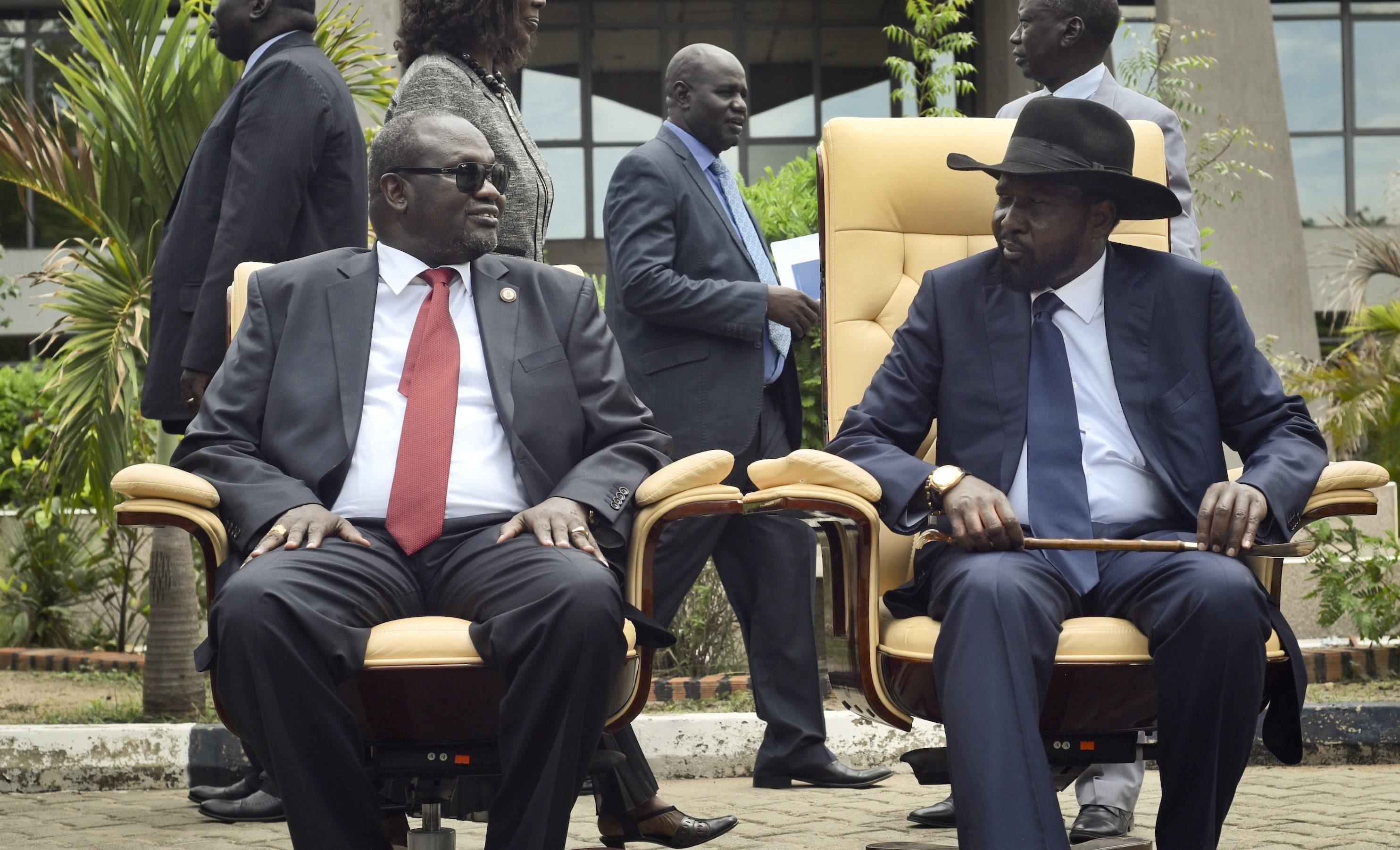 Riek Machar and Salva Kiir
