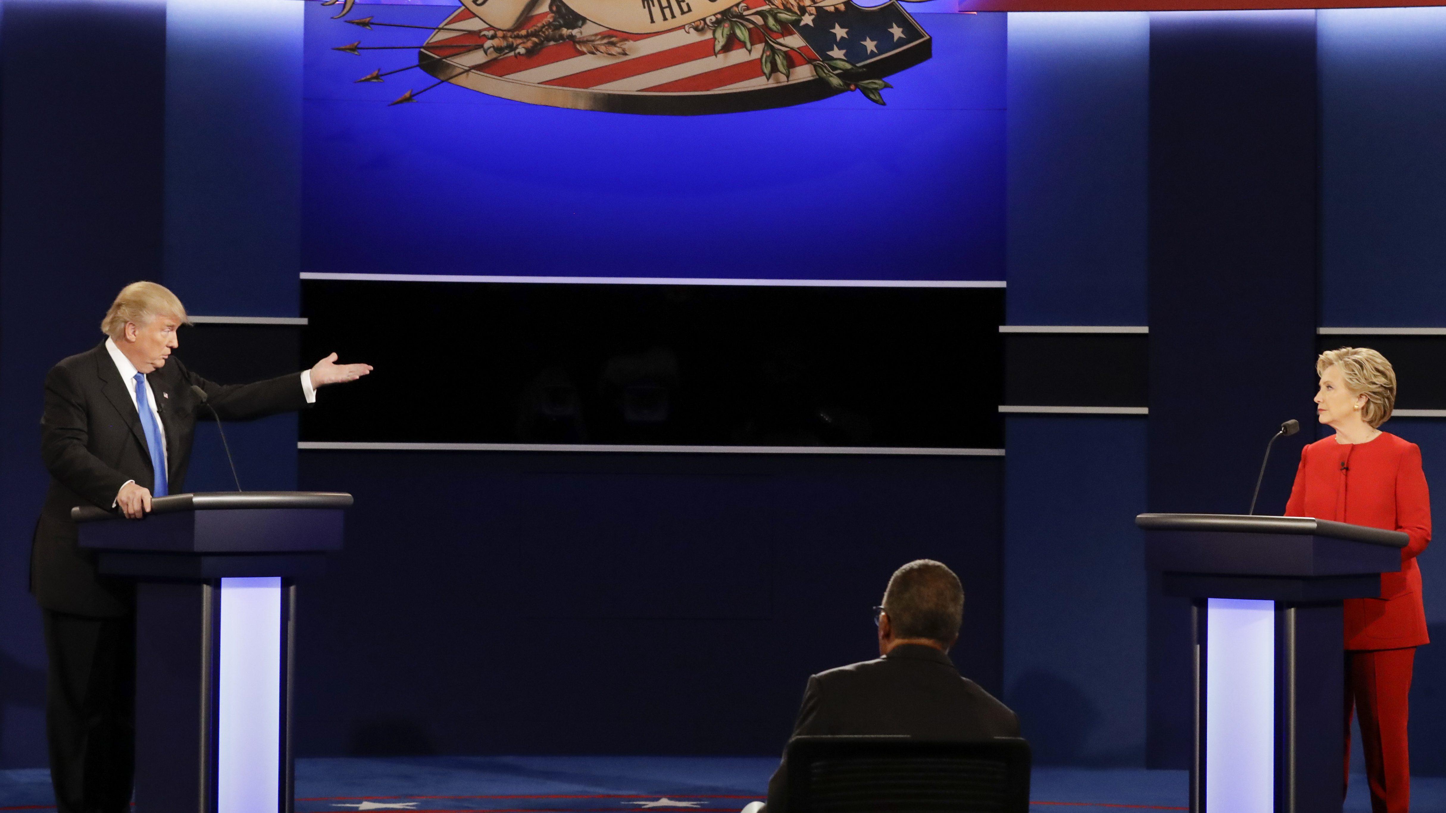 donald trump lester holt hillary clinton debate