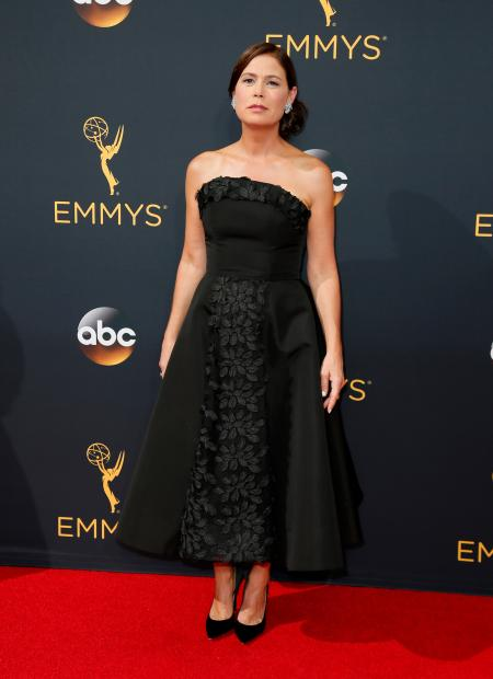 Maura Tierney arrives at the 68th Primetime Emmy Awards on Sunday, Sept. 18, 2016, at the Microsoft Theater in Los Angeles. (Photo by Danny Moloshok/Invision for the Television Academy/AP Images)