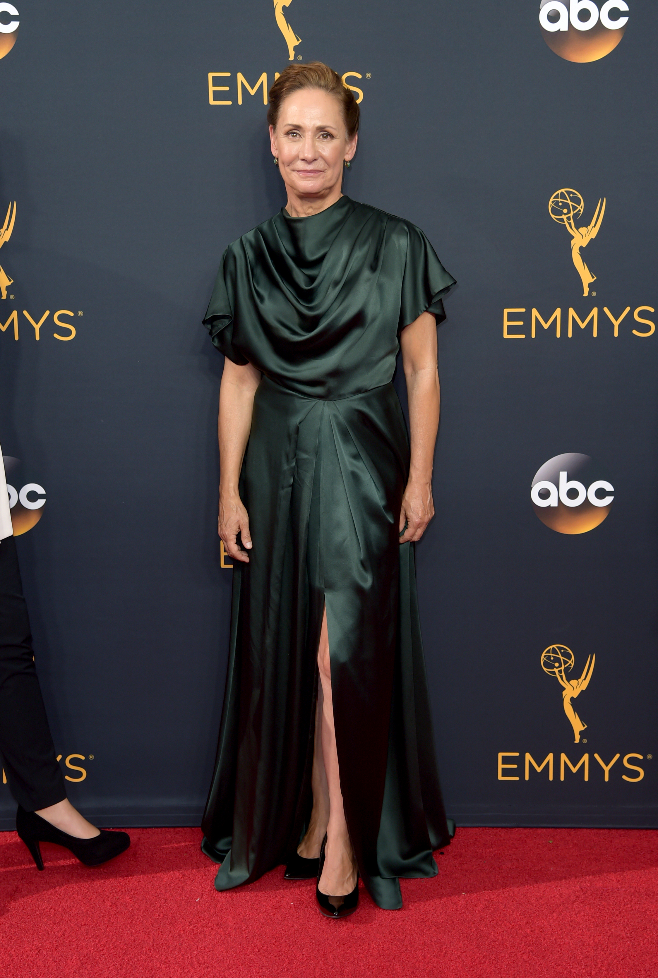 Laurie Metcalf arrives at the 68th Primetime Emmy Awards on Sunday, Sept. 18, 2016, at the Microsoft Theater in Los Angeles. (Photo by Richard Shotwell/Invision/AP)