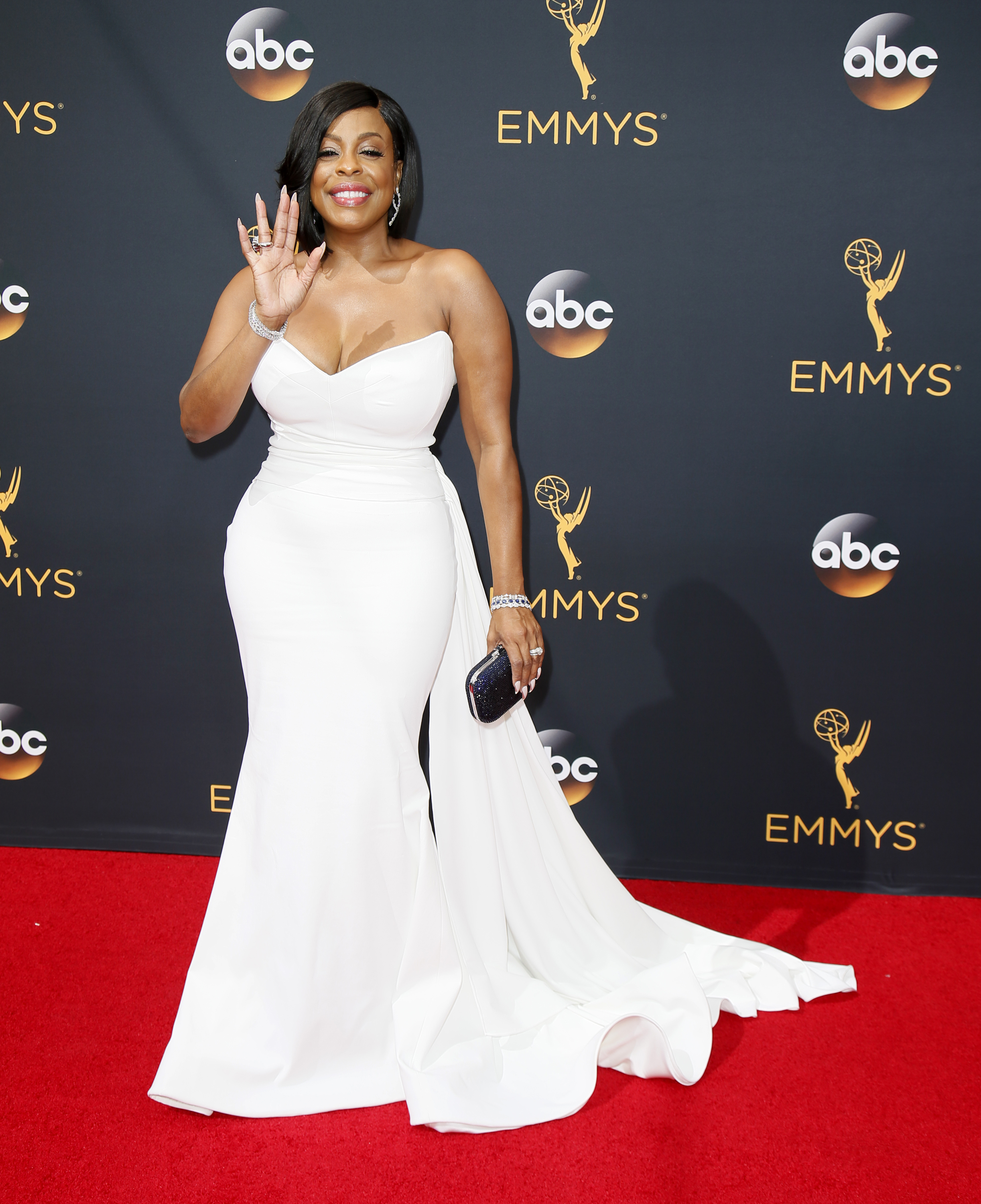 IMAGE DISTRIBUTED FOR THE TELEVISION ACADEMY - Niecy Nash arrives at the 68th Primetime Emmy Awards on Sunday, Sept. 18, 2016, at the Microsoft Theater in Los Angeles. (Photo by Danny Moloshok/Invision for the Television Academy/AP Images)