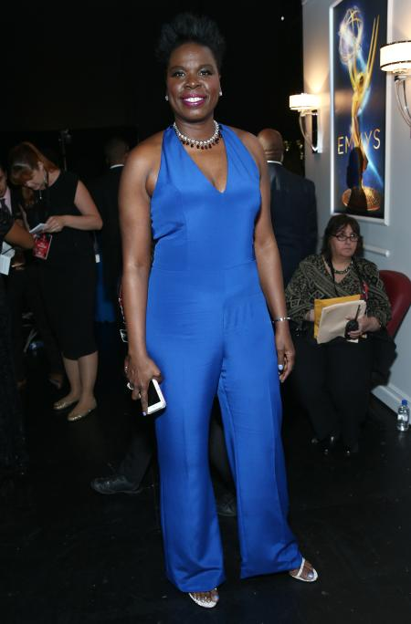 Leslie Jones poses backstage at the 68th Primetime Emmy Awards on Sunday, Sept. 18, 2016, at the Microsoft Theater in Los Angeles. (Photo by John Salangsang/Invision/AP)