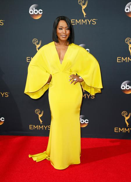 IMAGE DISTRIBUTED FOR THE TELEVISION ACADEMY - Angela Bassett arrives at the 68th Primetime Emmy Awards on Sunday, Sept. 18, 2016, at the Microsoft Theater in Los Angeles. (Photo by Danny Moloshok/Invision for the Television Academy/AP Images)
