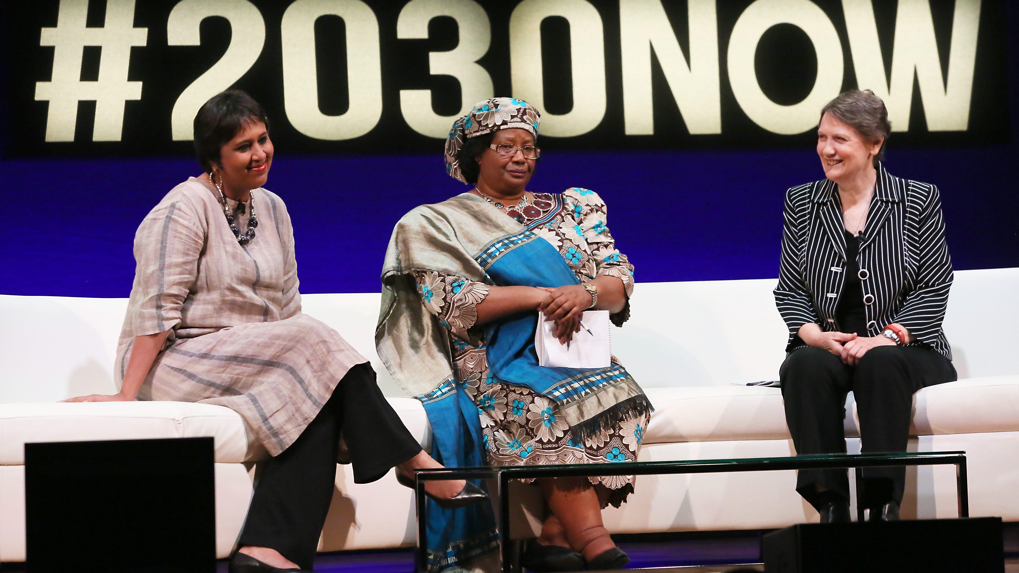 Barkha Dutt, Dr. Joyce Banda, Helen Clark