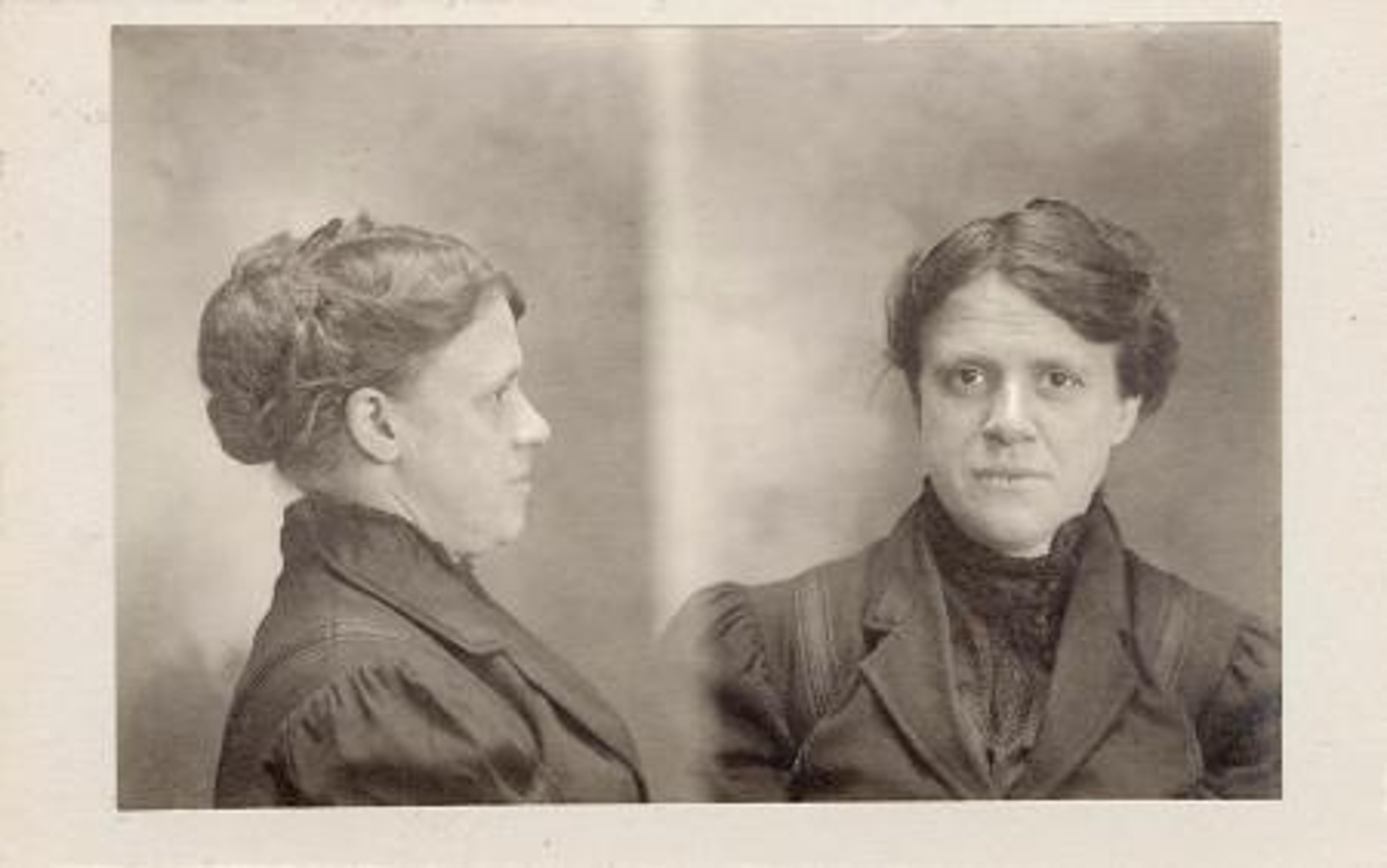 Bertillon card and mugshot
