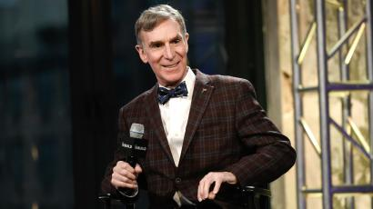"""Bill Nye """"the Science Guy"""" at a speaking event"""
