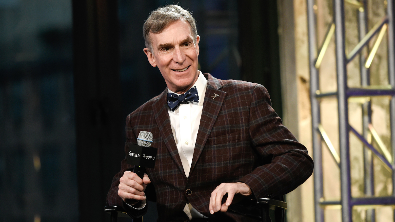 """FILE - In this Dec. 17, 2015 file photo, Bill Nye, the Science Guy, participates in AOL's BUILD Speaker Series to discuss his new book, """"Unstoppable: Harnessing Science To Change The World"""", at AOL Studios, in New York. Nye is going to be a Netflix guy. The streaming network announced plans Wednesday, Aug. 31, 2016, to launch a series, """"Bill Nye Saves the World,"""" hosted by the famed scientist, author and TV personality. (Photo by Evan Agostini/Invision/AP, File)"""