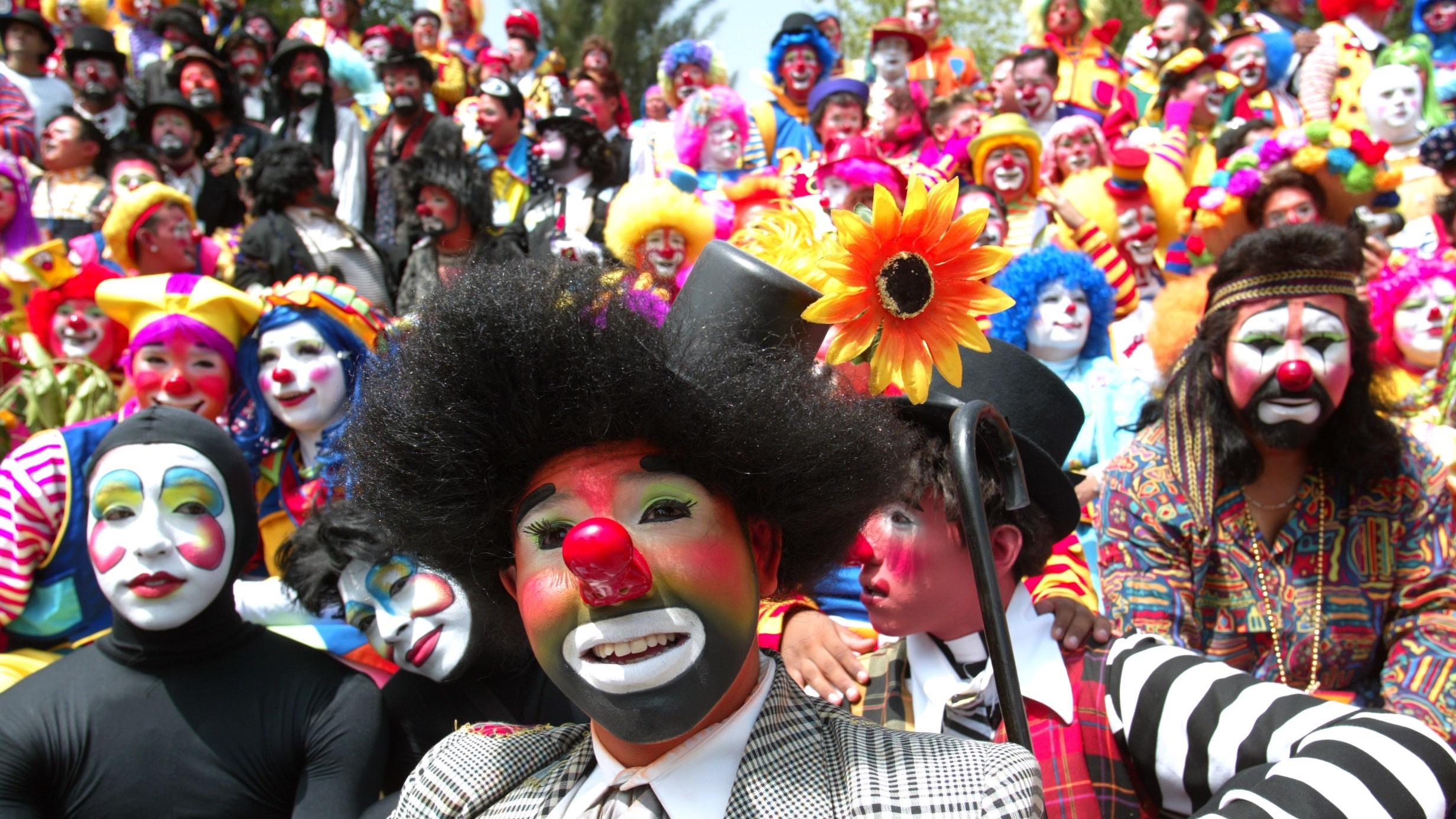 Clowns gather