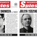 US Defense Security Service/Center for Development of Security Excellence posters on Edward Snowden and Julian Assange