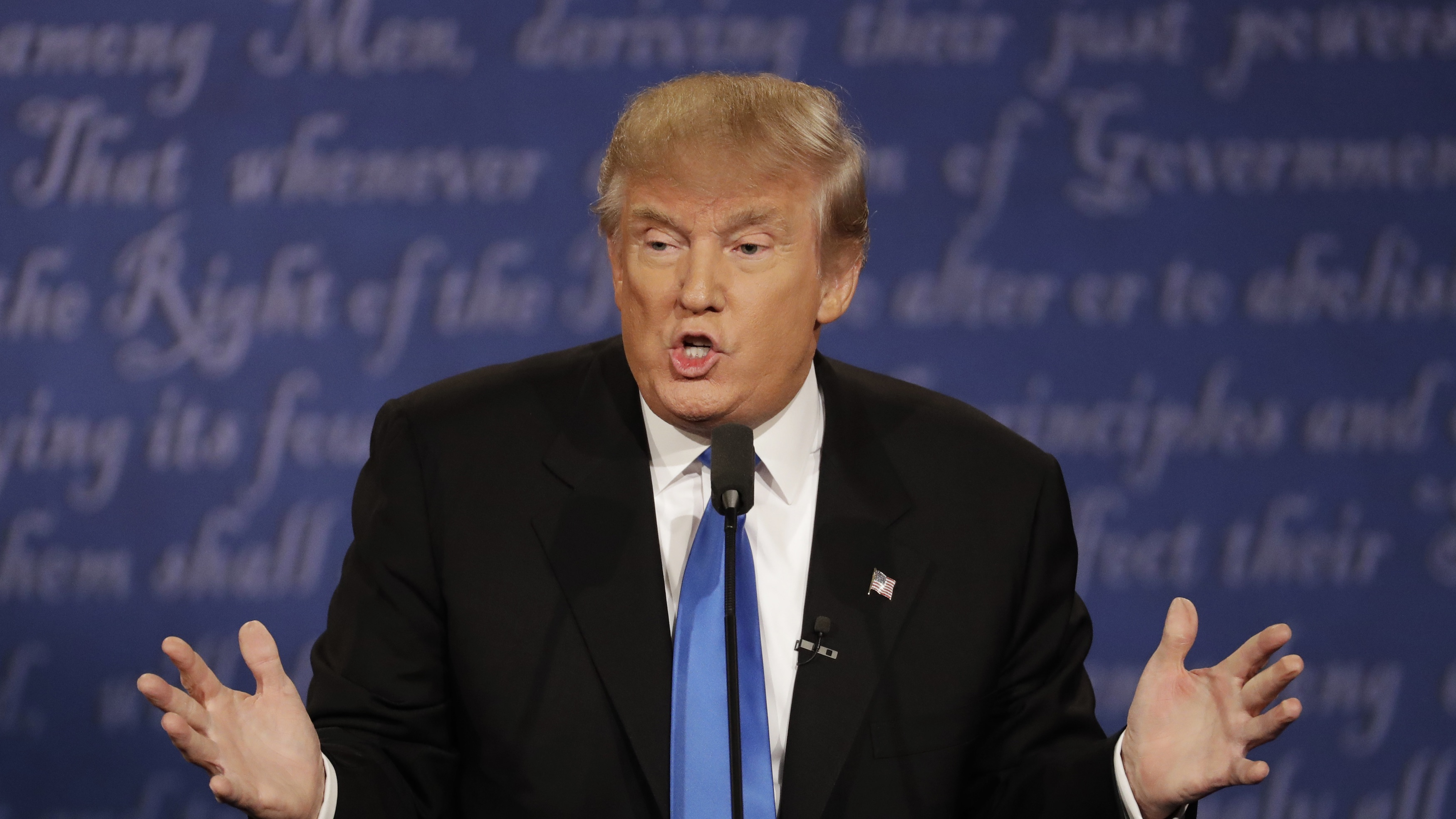 """Trump says he was """"smart"""" to avoid paying taxes."""