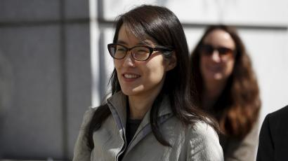 Ellen Pao leaves court as her sexual bias trial against fomer employer Kleiner Perkins Caufield & Byerr continues in San Francisco