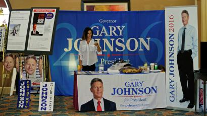 Gary Johnson political booth