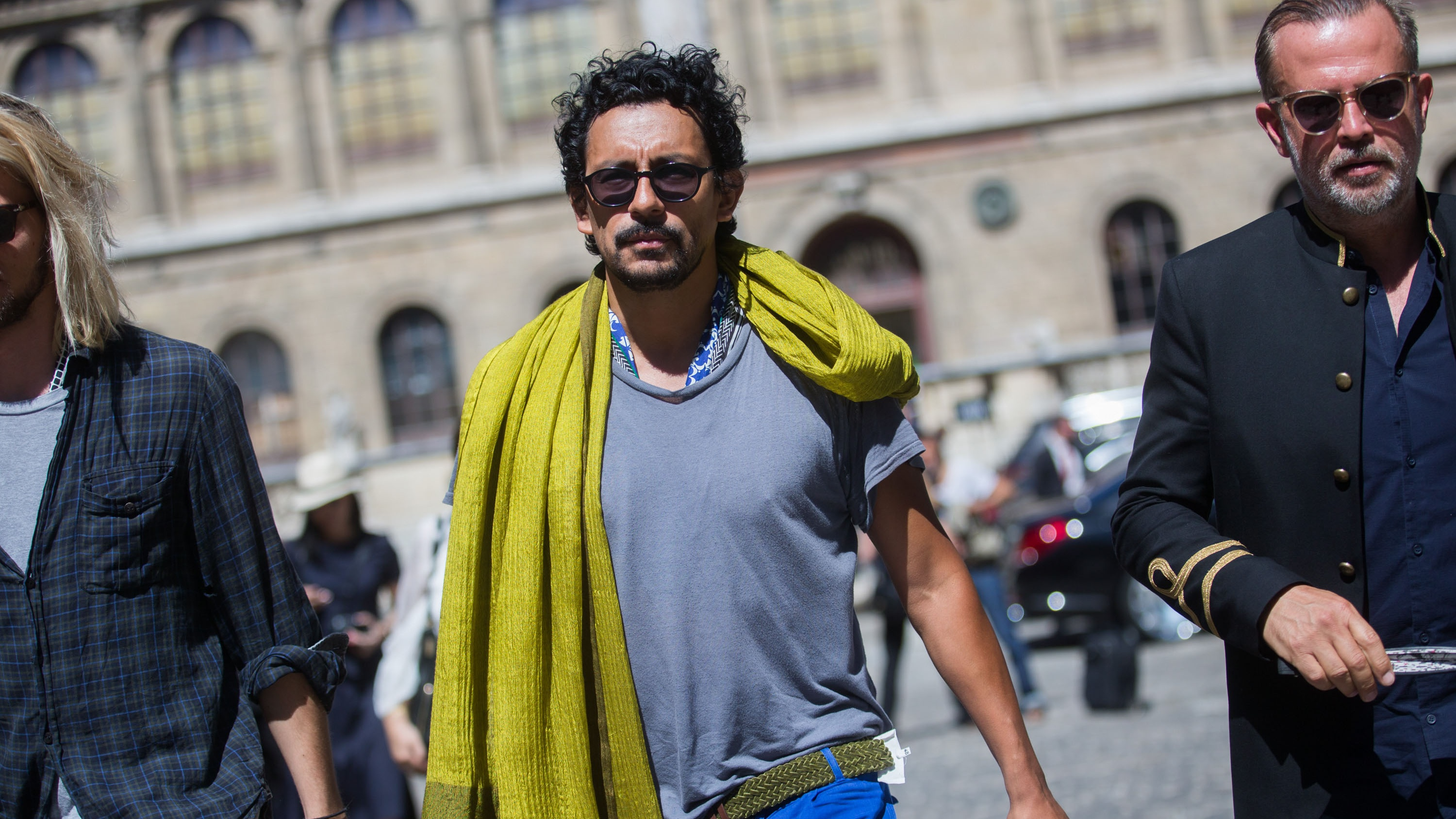 PARIS, FRANCE - JUNE 28: Haider Ackermann exits the Lanvin show on June 28, 2015 in Paris, France.
