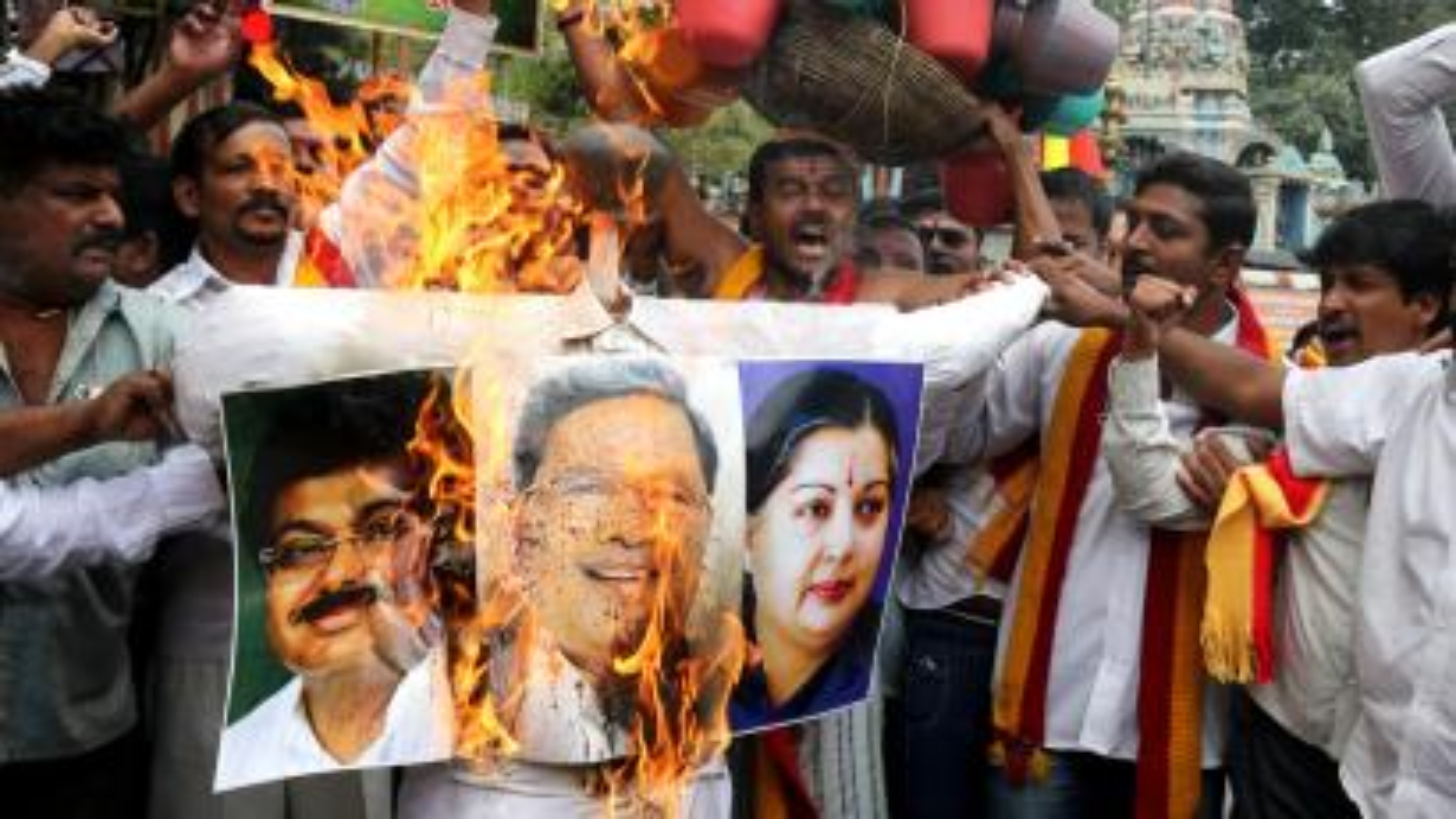 Members of pro kannada activist's