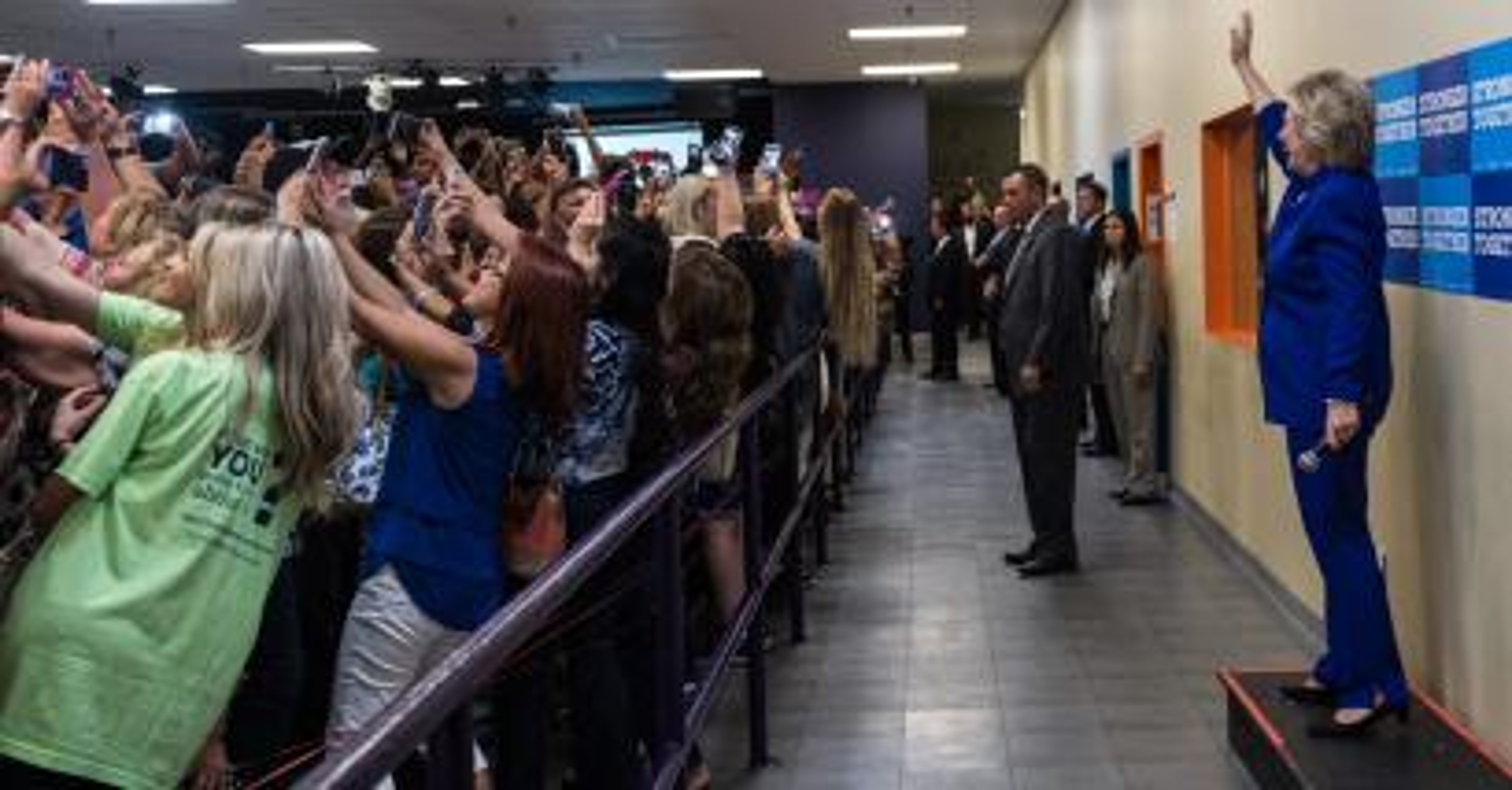 Hillary Clinton Orlando Rally Selfie