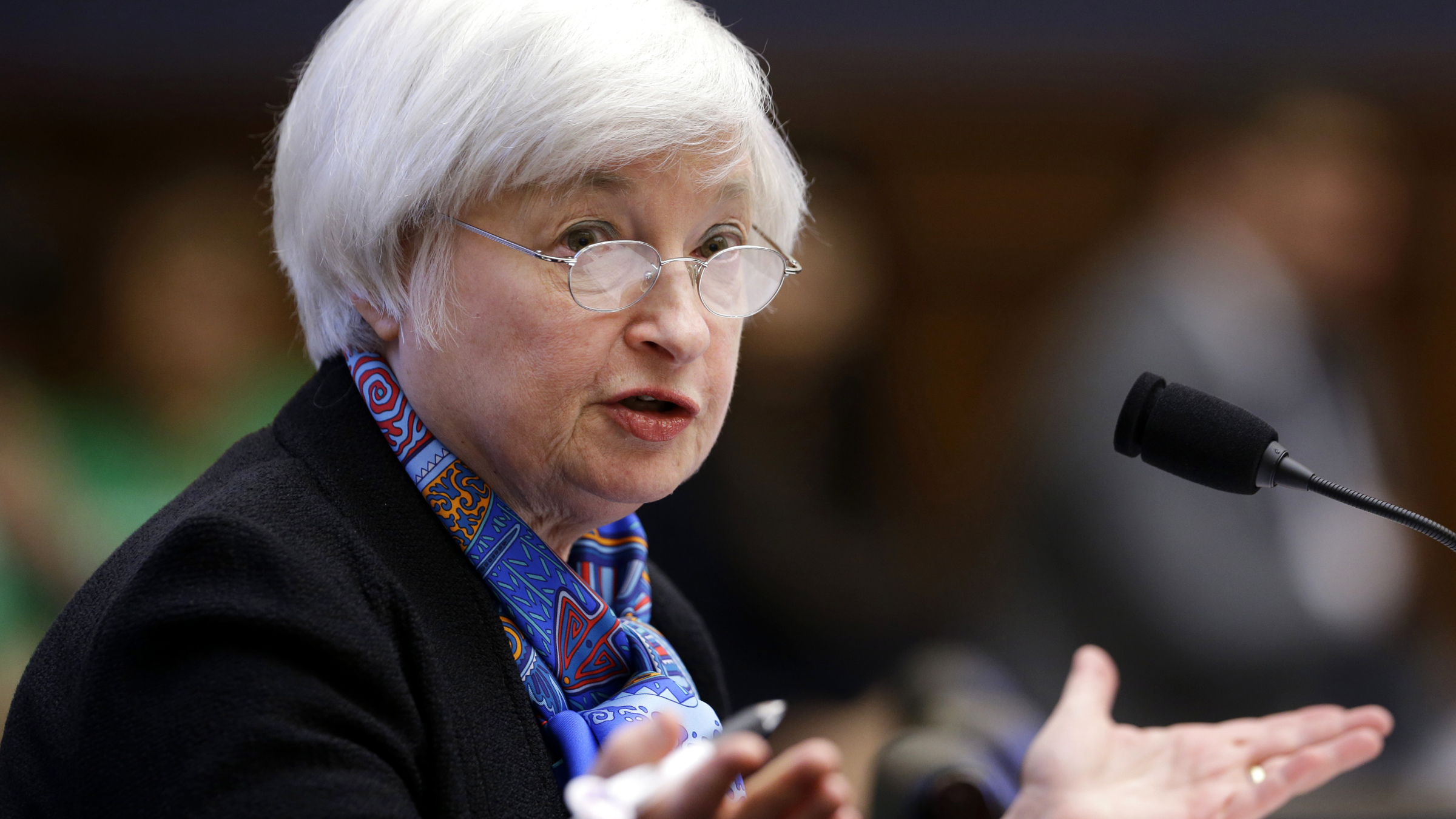 Federal Reserve Chair Janet Yellin testifies on U.S. monetary policy before the House Financial Services Committee on Capitol Hill in Washington, Wednesday, June 22, 2016.