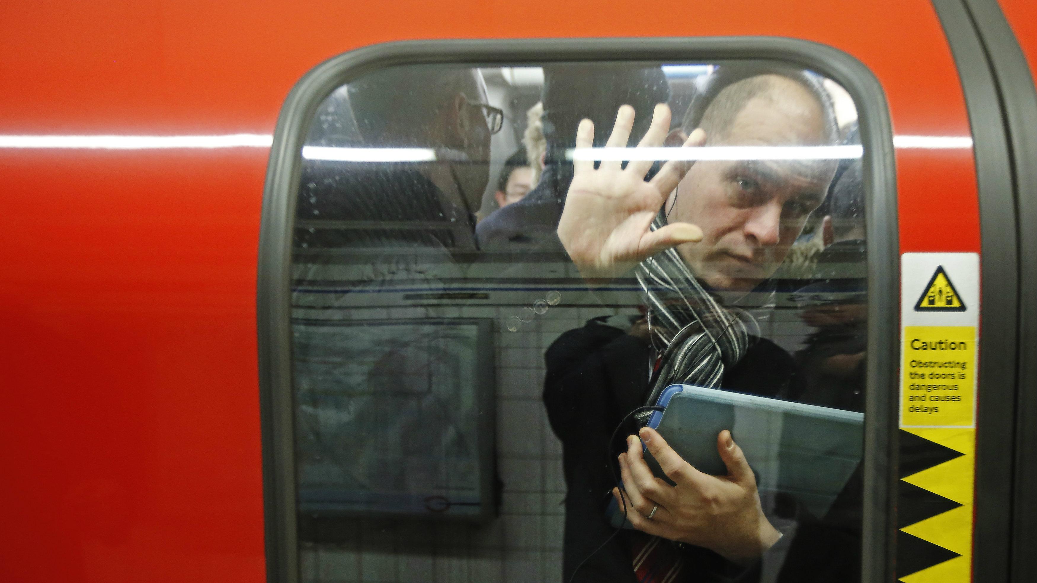Passenger on the London tube.