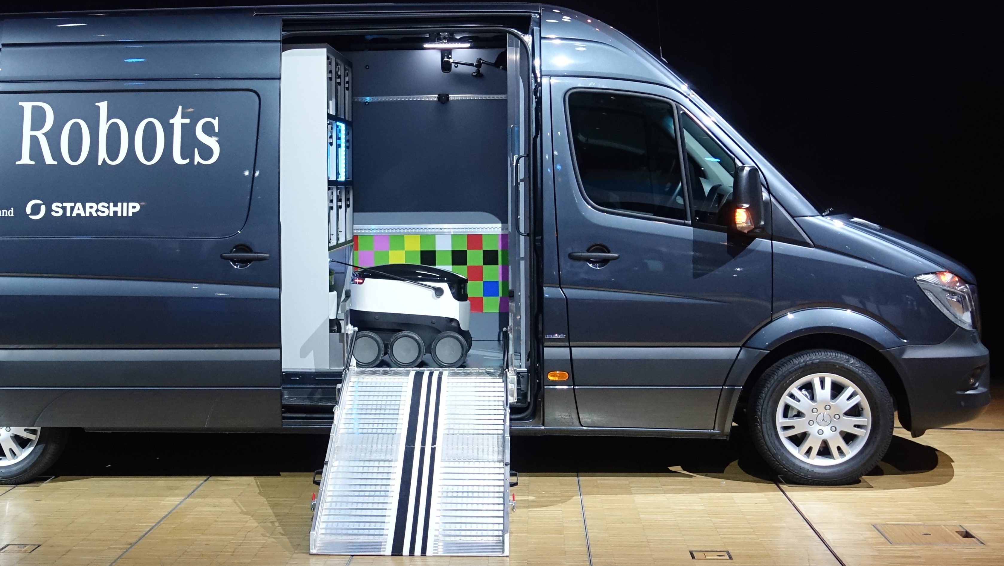 Mercedes delivery van for Starship robots