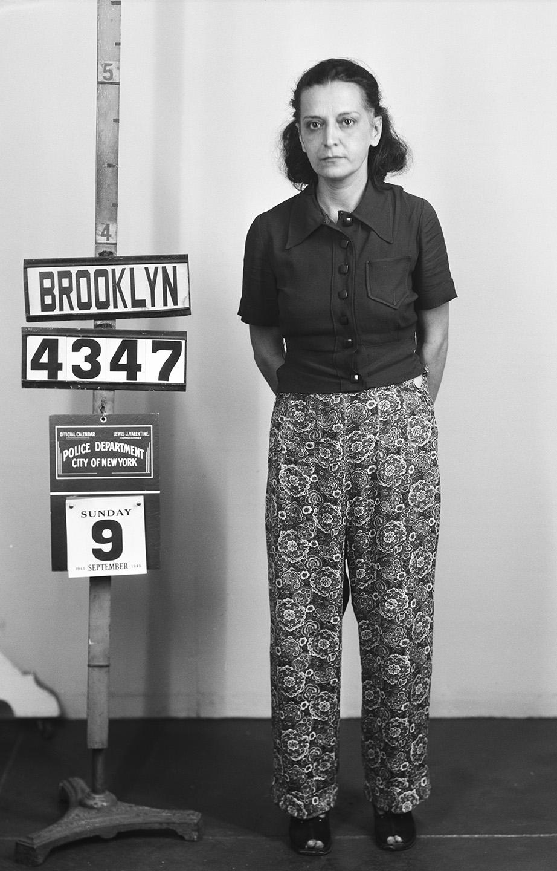 Old Brooklyn stand up mug shot