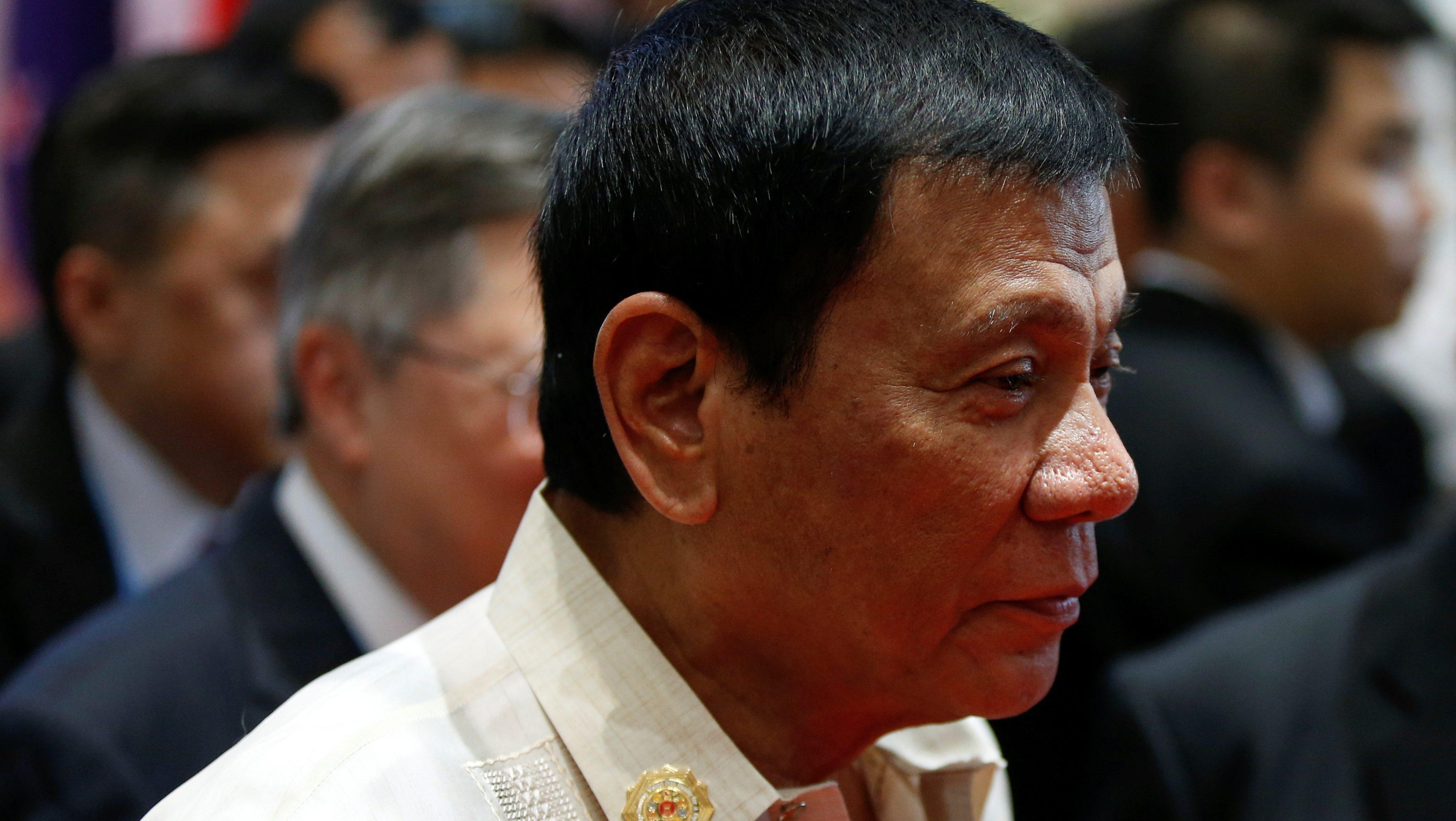 Philippines' president Duterte