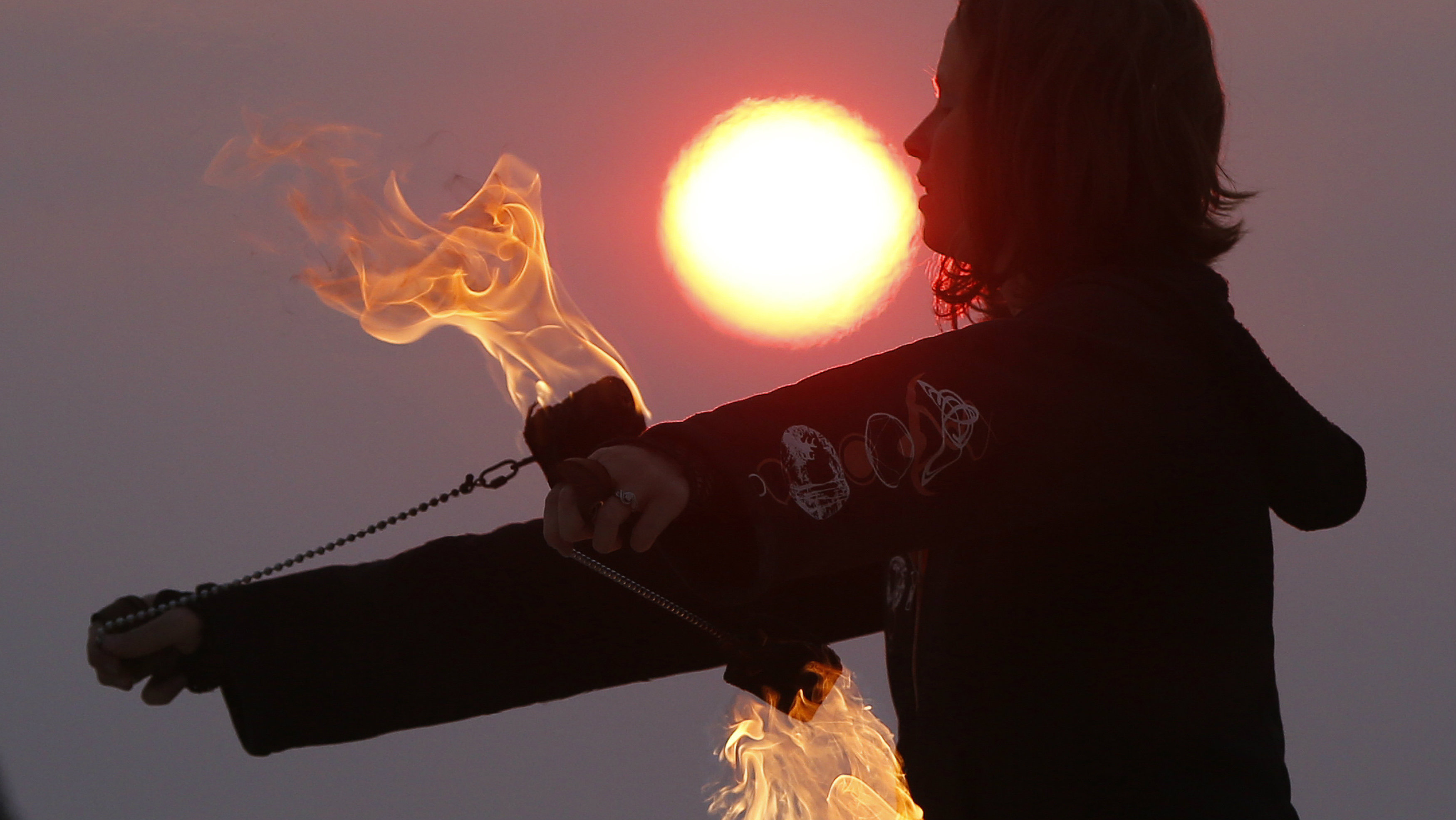 Fire thrower at Burning Man