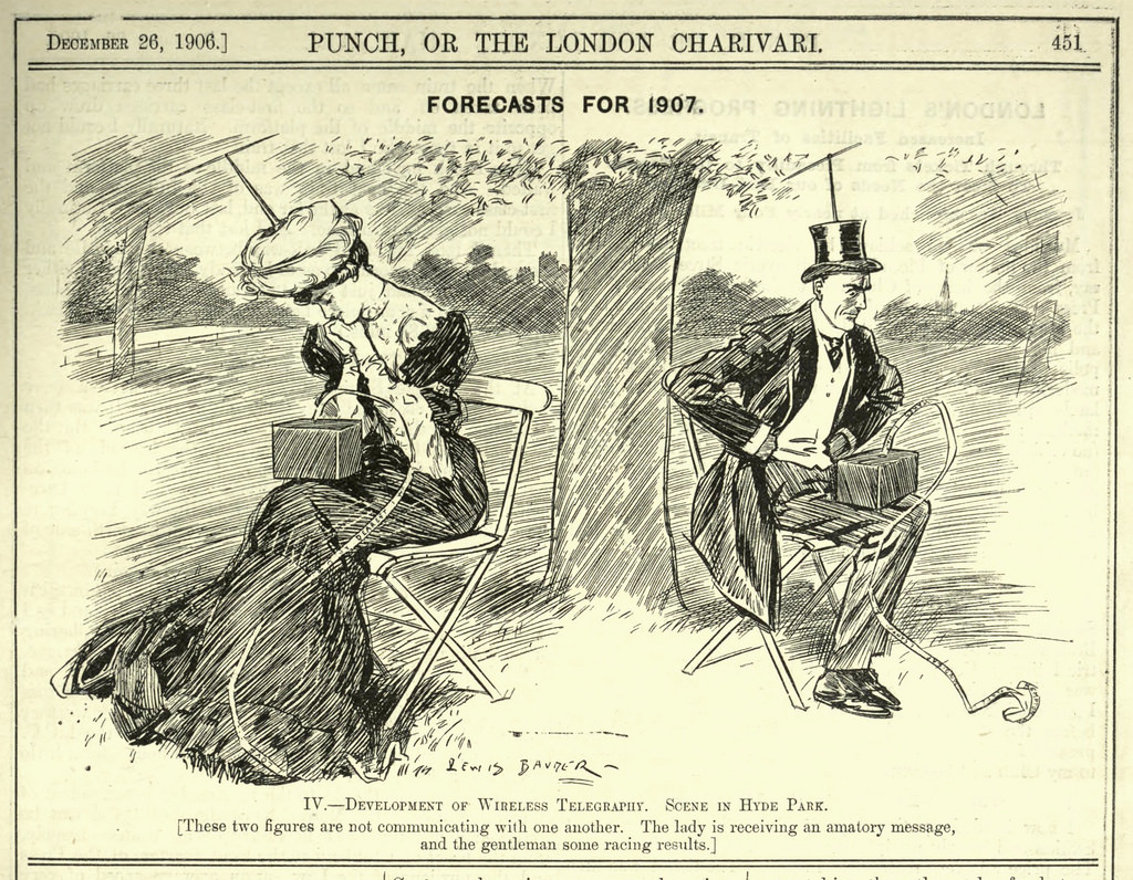 Are smartphones unhealthy? A 1906 Punch Magazine cartoon perfectly ...