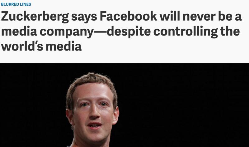 Quartz headline about Zuckerberg