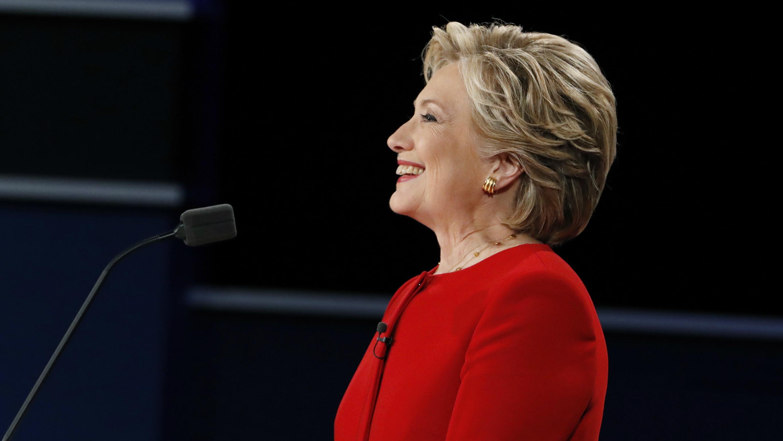 Hillary Clinton during the presidential debate against Donald Trump