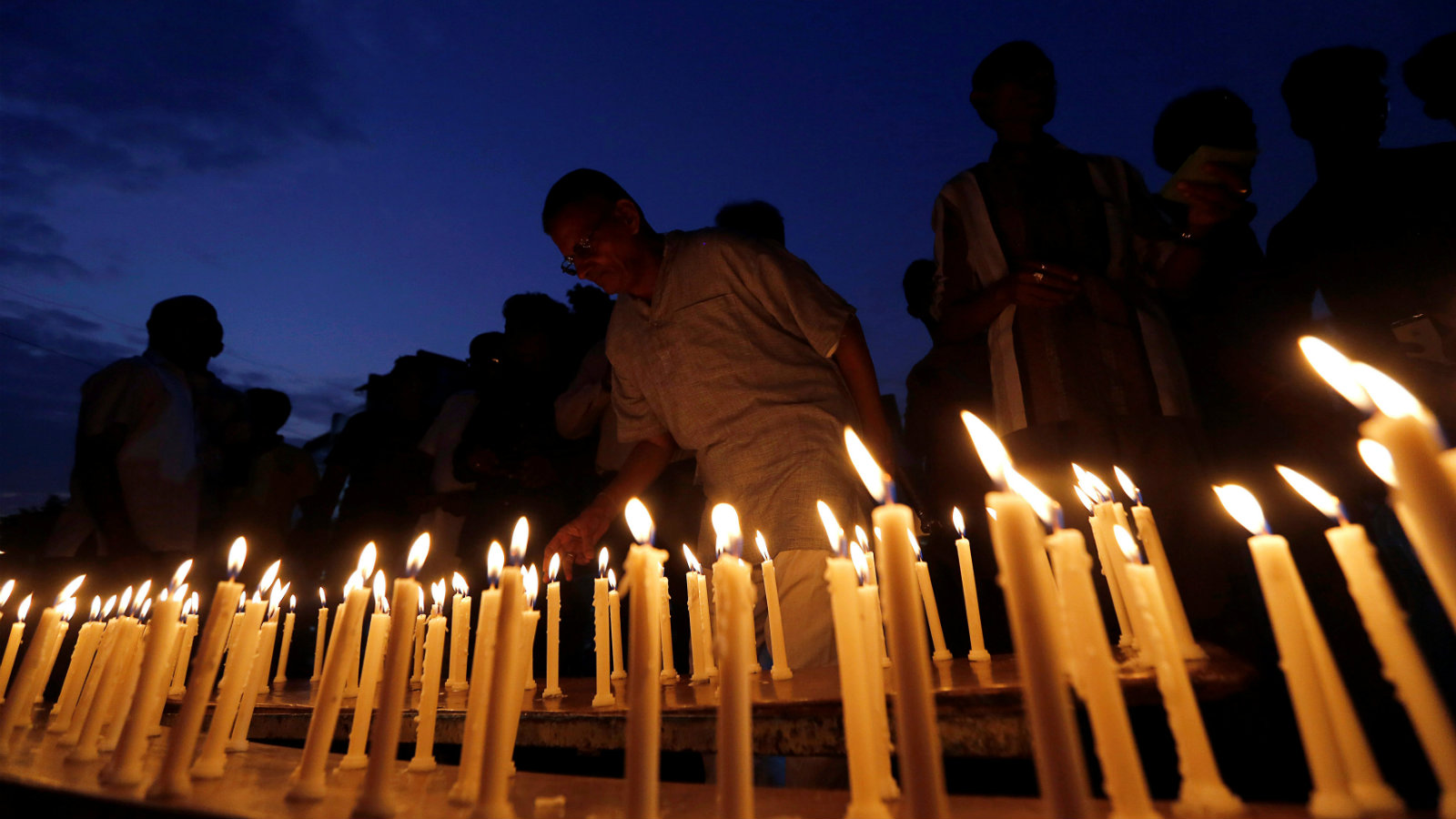 A candle light vigil for the Uri martyrs in Ahmedabad, Gujarat, earlier this week.