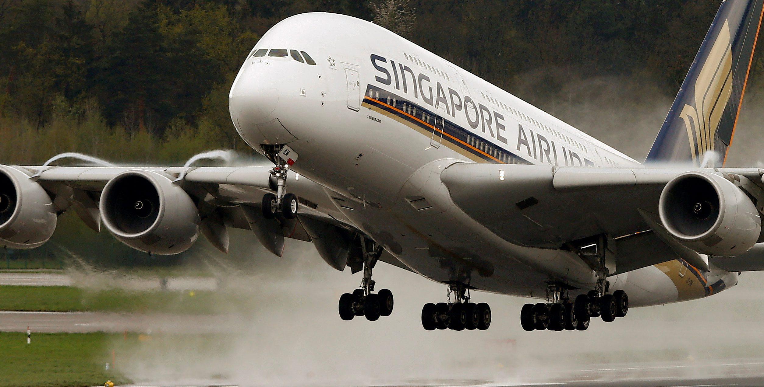 An Airbus A380-841 airplane