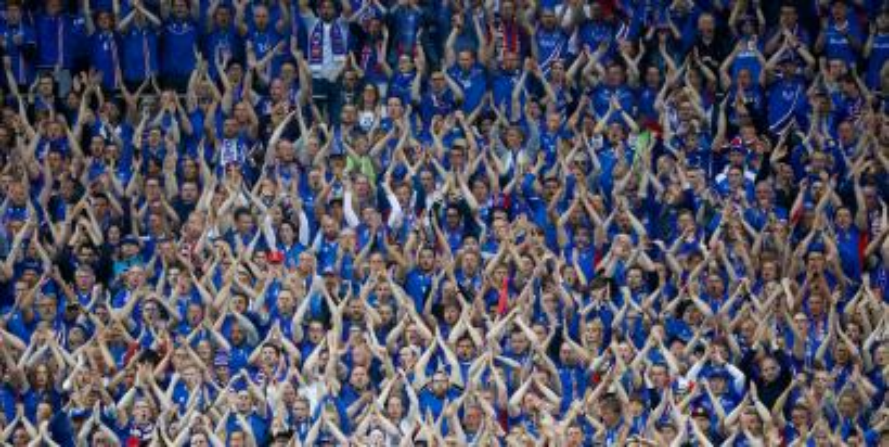 Football Soccer - France v Iceland - EURO 2016 - Quarter Final - Stade de France, Saint-Denis near Paris, France - 3/7/16 Iceland fans REUTERS/Christian Hartmann Livepic - RTX2JIVT