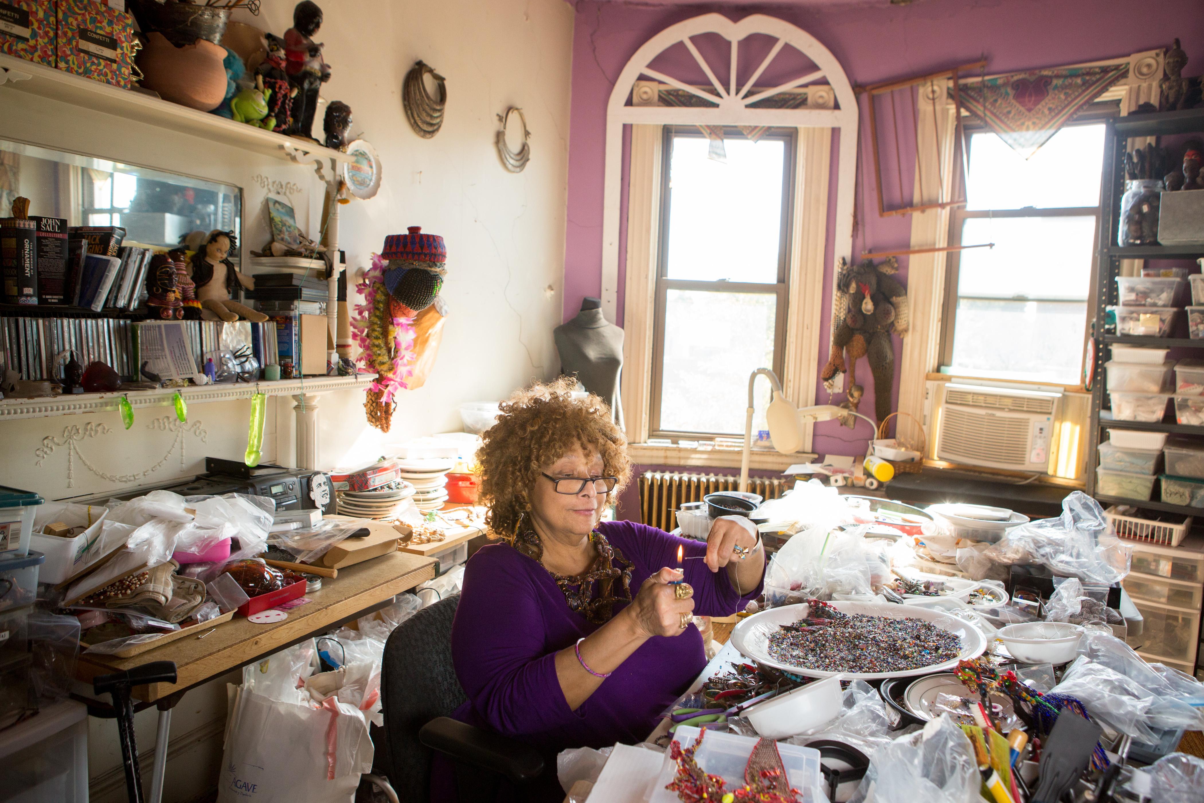 Artist Joyce J. Scott at her home in Baltimore, Maryland, Monday, September 12, 2016