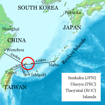 Map: The Senkaku Islands