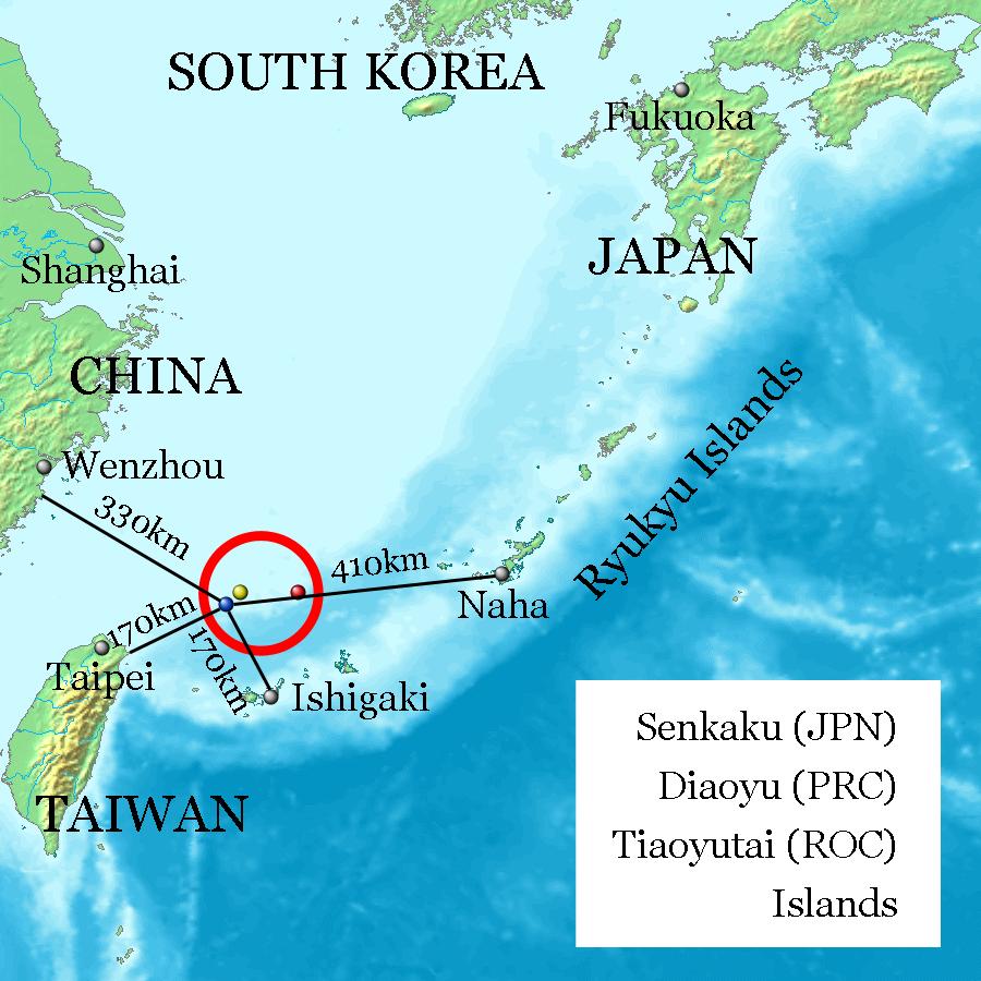 Map: The Senkaku Islands